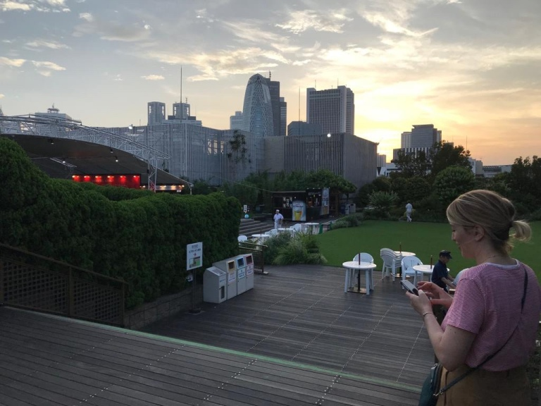 Il rooftop di Isetan