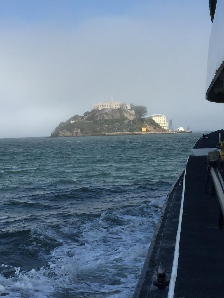 L'isola di Alcatraz vista dal battello.
