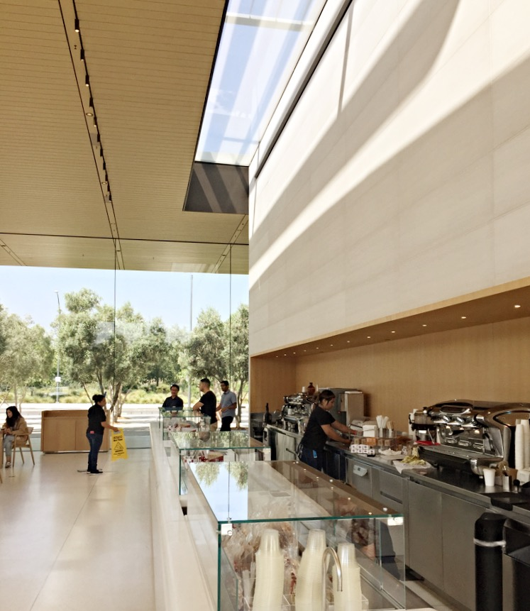 Il caffè dell'Apple visitor center, Cupertino