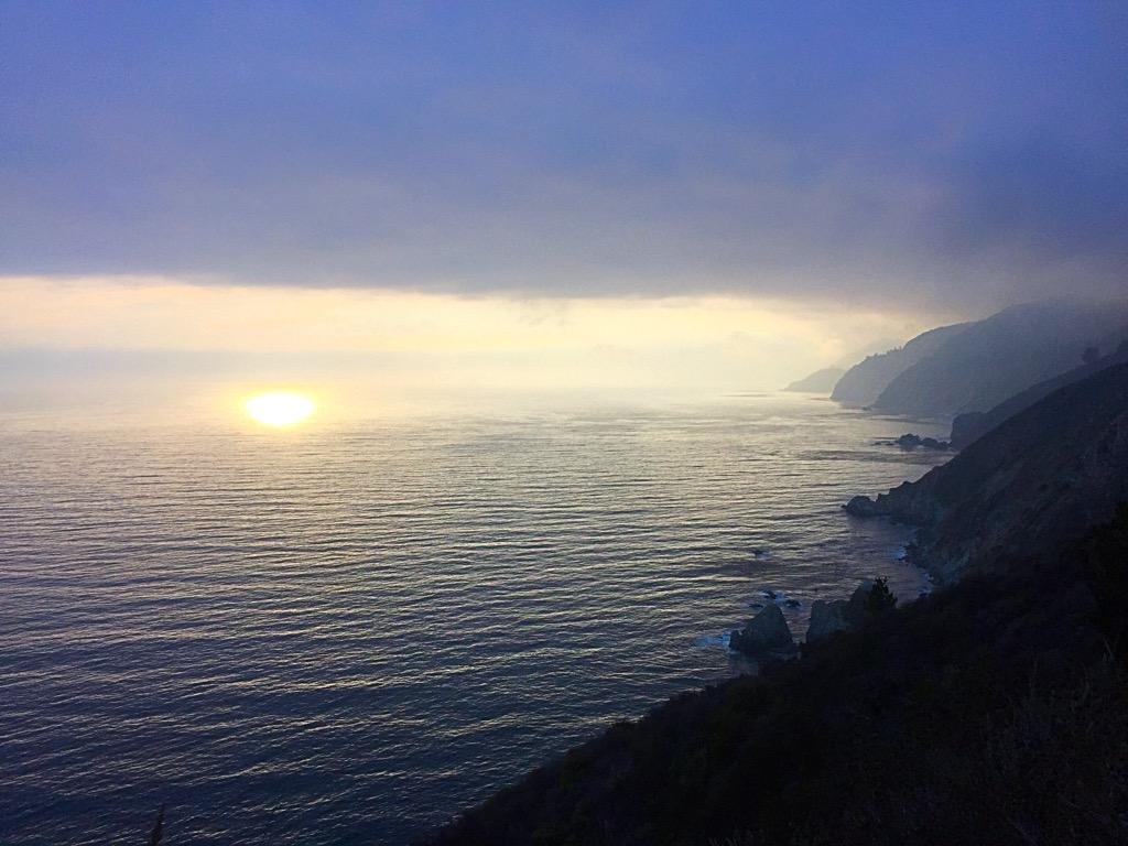 Tramonto a Big Sur