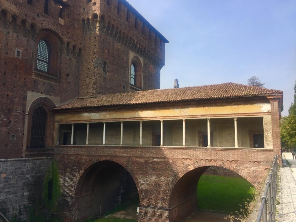 la ponticella di Ludovico il Moro al Castello Sforzesco di Milano