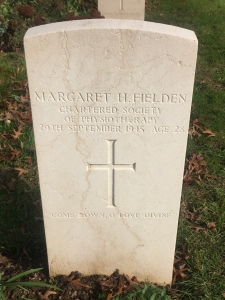 la lapide di Margareth H.Fielden