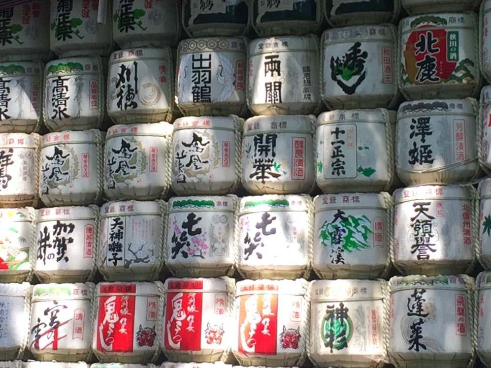 il santuario Meiji a Yoyogi Park a Tokyo, particolare.