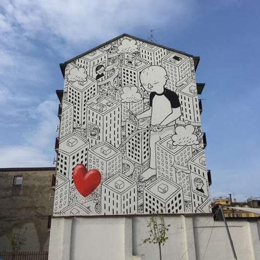 il murales del giardino delle culture di via morosini