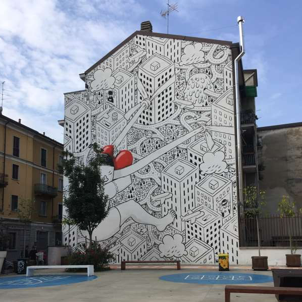 il murales in via morosini