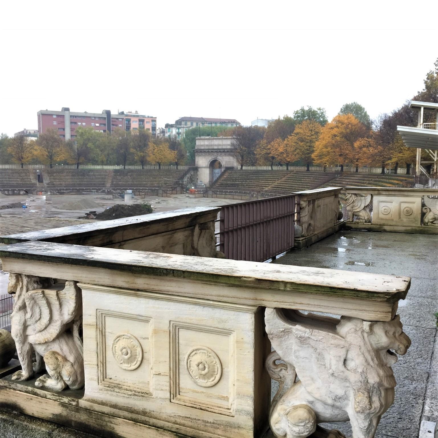Il palco imperiale dell'Arena Civica di Milano