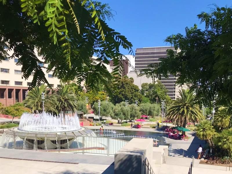 Il parco centrale di Downtown L.A.