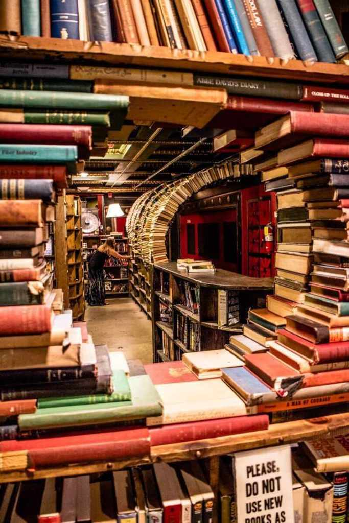 The ultimate bookstore e i suoi tunnel di libri