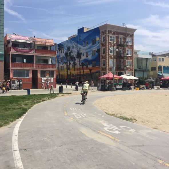 Il lungomare di Venice Beach