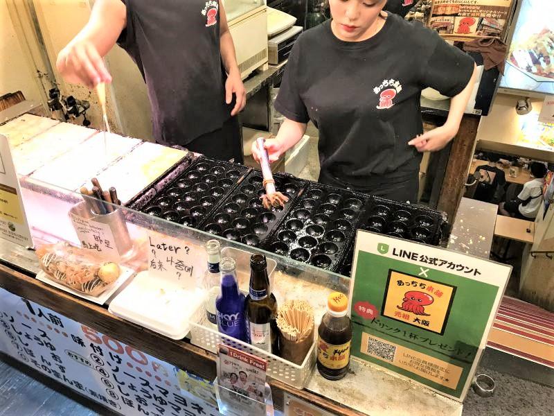 I takoyaki di Kukuru a Dotonbori