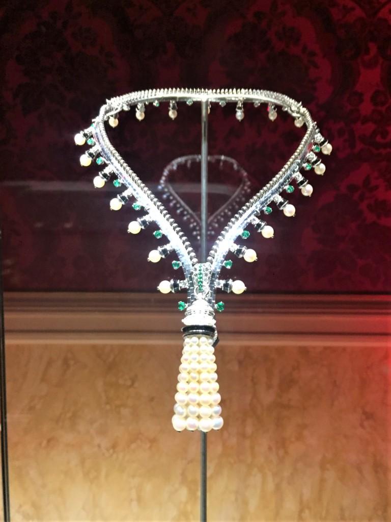 collana cerniera con smeraldi van cleef & arples