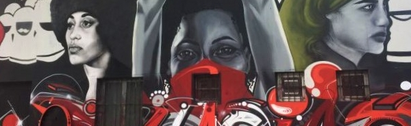 """murales """"Donne partigiane"""", centro sociale Barrio's, quartiere Barona, Milano"""