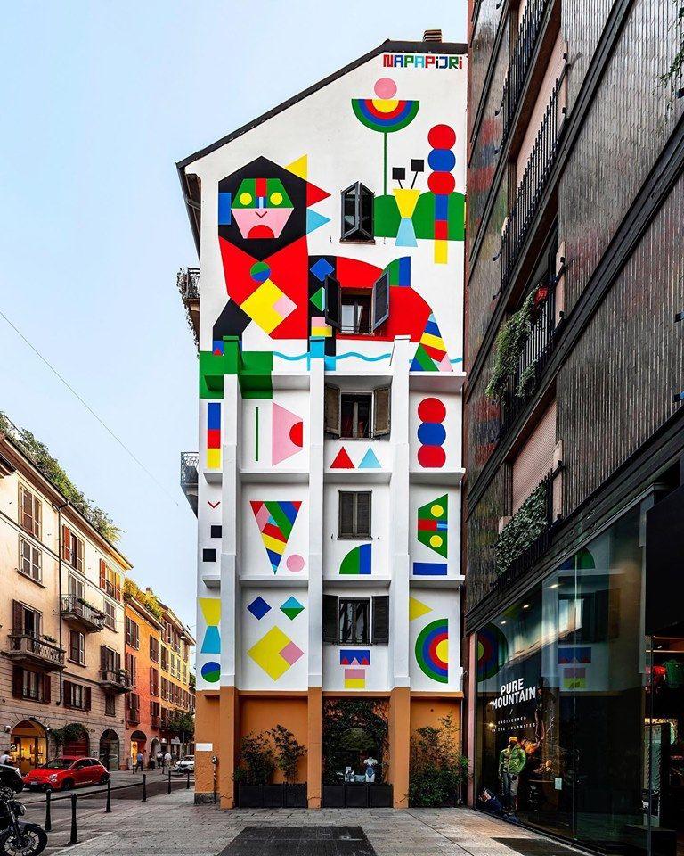 Camilla Falsini, muro Napapijri in Corso Garibaldi