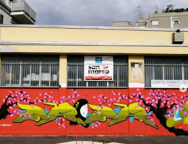 Dada, murales colorificio Arteposa, Milano
