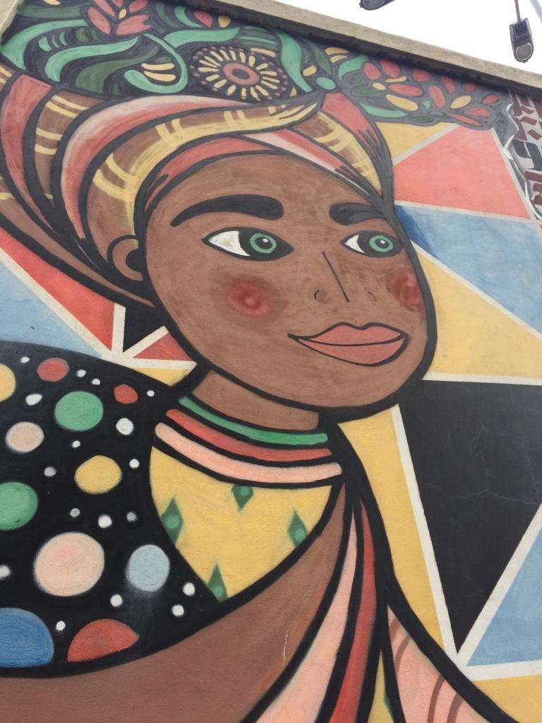Marta Anais, particolare del murales alla Fabbrica del Vapore