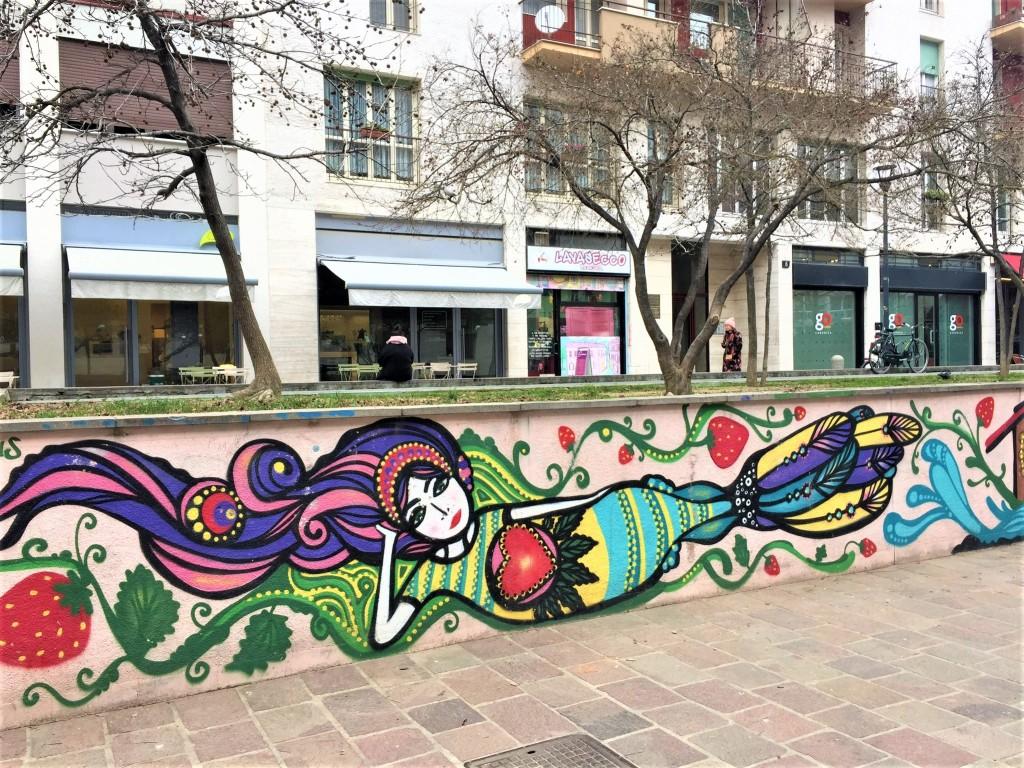Marzia Anais, murales in via Cesariano