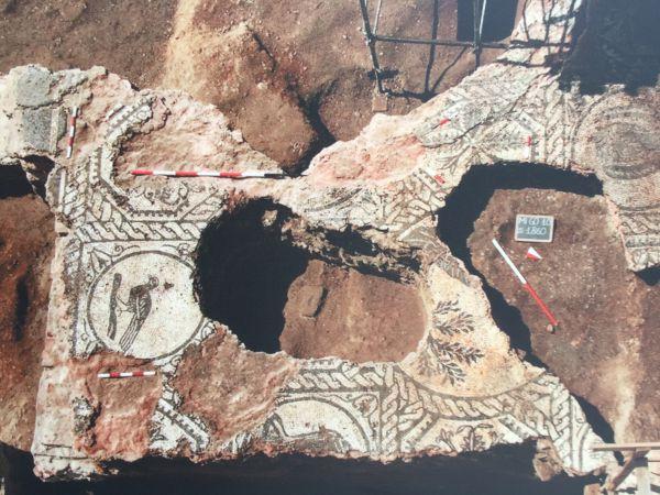 Dettagli del pavimento musivo del palazzo imperiale di Massimiano