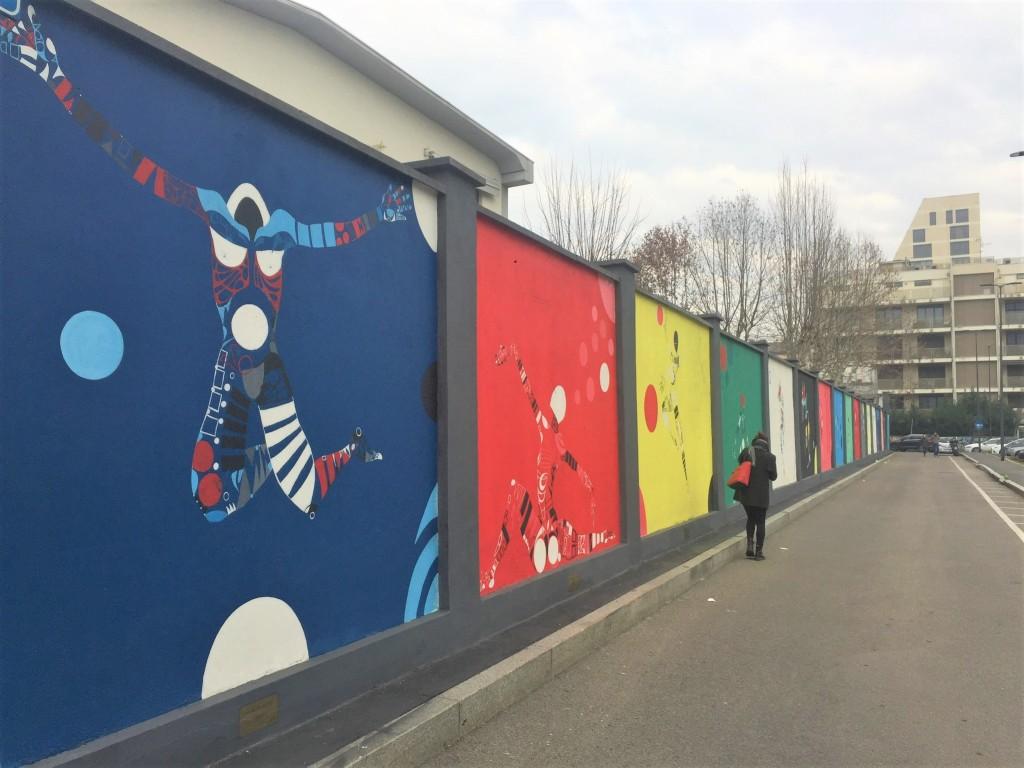 """""""Mutevole"""", murales lungo il campus Durando del Politecnico di Milano"""