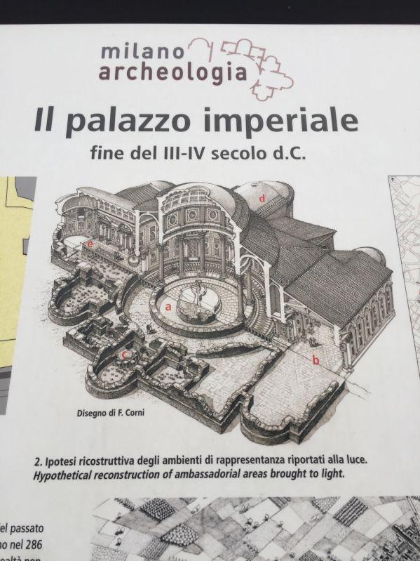 Ricostruzione del palazzo imperiale di Massimiano