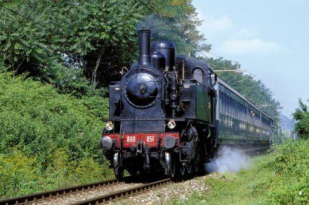 Locomotiva a vapore del Treno Blu