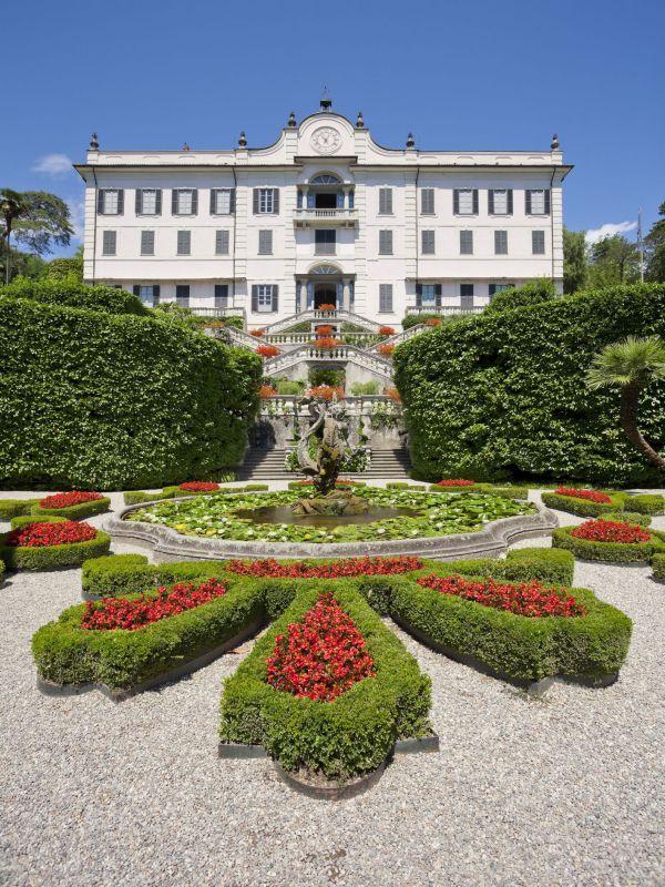 Facciata di Villa Carlotta
