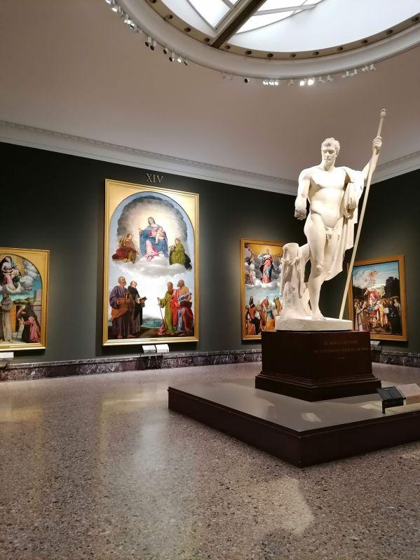 Il salone con la statua in gesso di Napoleone, Pinacoteca di Brera