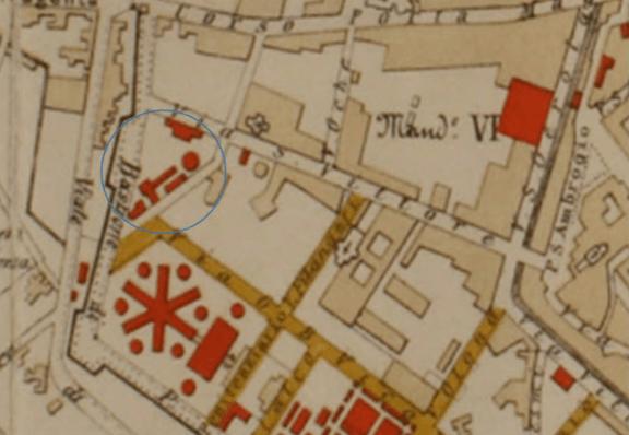 carta topografica del lotto delle case candiani