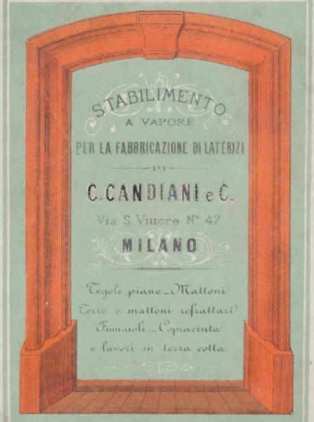targa della ditta Carlo Candiani